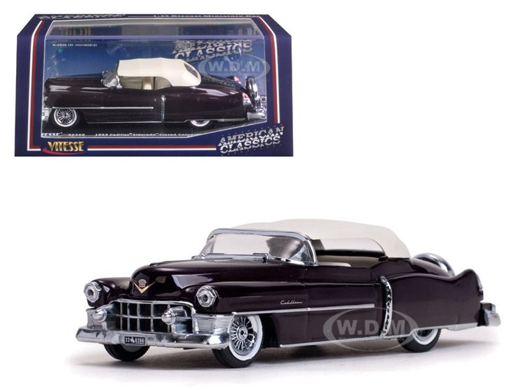 diecastmodelswholesale -  1953 Cadillac Closed Convertible Maroon 1/43 Diecast Model Car by Vitesse, $24.99 (http://www.diecastmodelswholesale.com/1953-cadillac-closed-convertible-maroon-1-43-diecast-model-car-by-vitesse/)