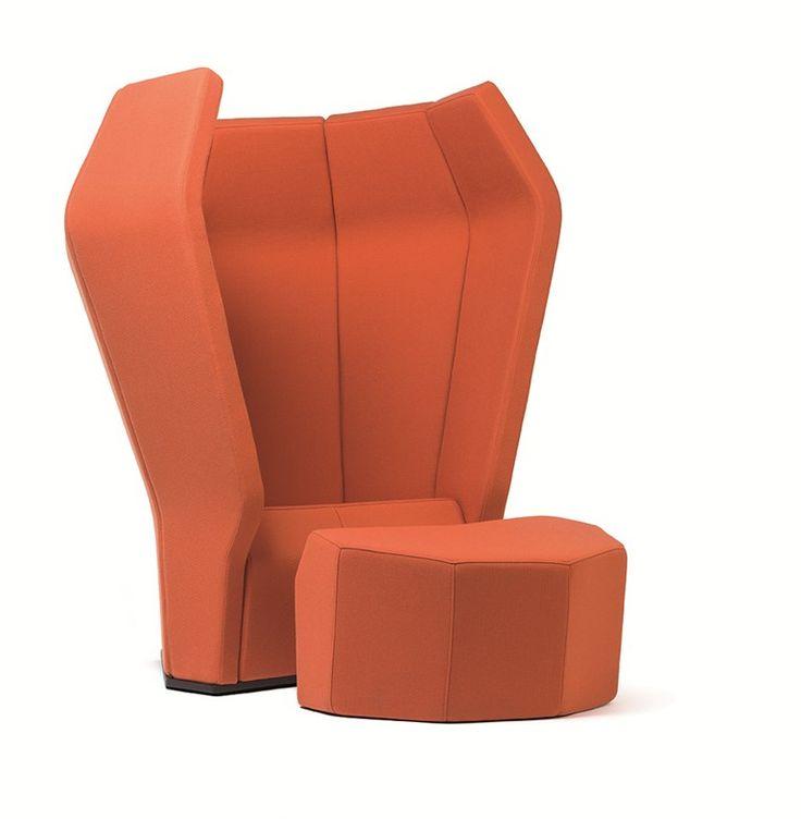 Fabric Lounge Chair Atoll Tacchini Italia Forniture