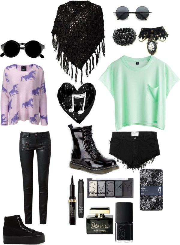 quotgoth amp pastel outfitsquot by kelseycrites liked on polyvore