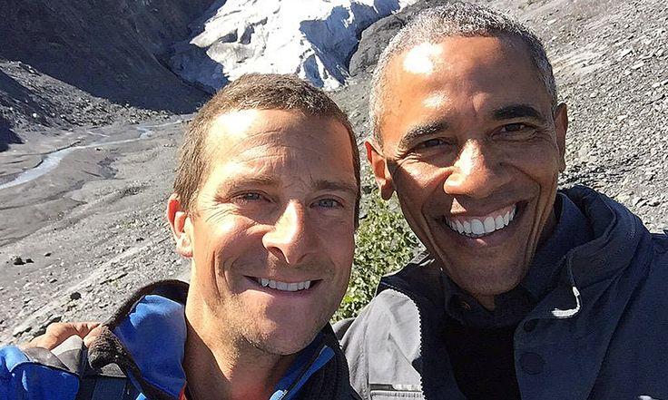 Bear Grylls z Baraciem Obamą