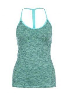 Майка спортивная Nike, цвет: зеленый. Артикул: NI464EWEXR79. Женская одежда