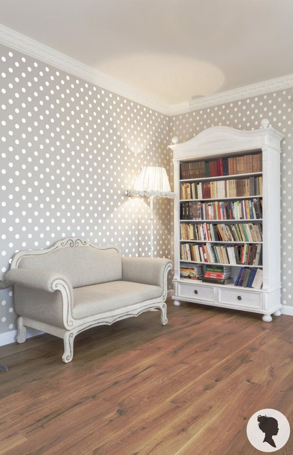 SALE 20% Removable Polka Dot Self Adhesive Wallpaper by Livettes