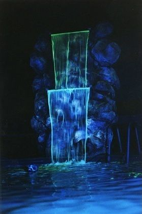 Wildfire's Luminescent Water Dyes radiate brilliantly under black light. Turn Any Fountain Or Closed Water System Into A Brilliant, Glowing Black Light Effect!