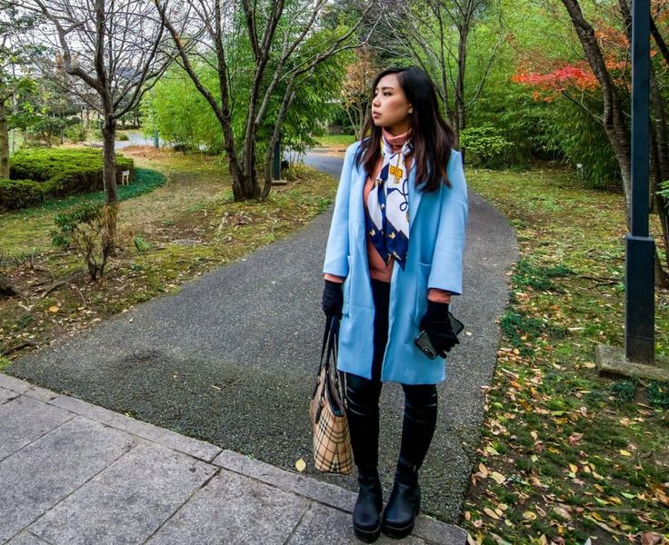 Travel in Style – Blue Coat Silk Scarf