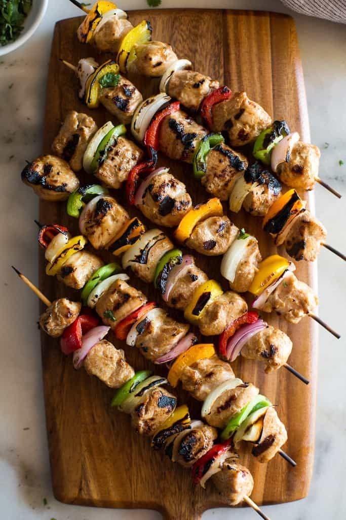 Easy Marinated Chicken Kebabs Recipe Marinated Chicken Kebabs Easy Chicken Kebabs Chicken Kebab Recipe