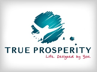 Life. Designed By You.    True Prosperity is an extension of U2R1 Media's business consulting services. The logo represents the freedom to live the life you always desired. The dove symbol is visionary, portraying the idea of freedom and opportunity: the font is strong and solid to illustrate the necessity of a solid foundation upon which to build success.