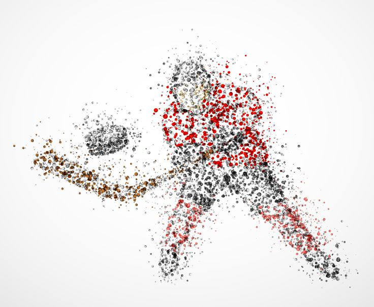 Abstract hockey player, shoots the puck. Eps 10.