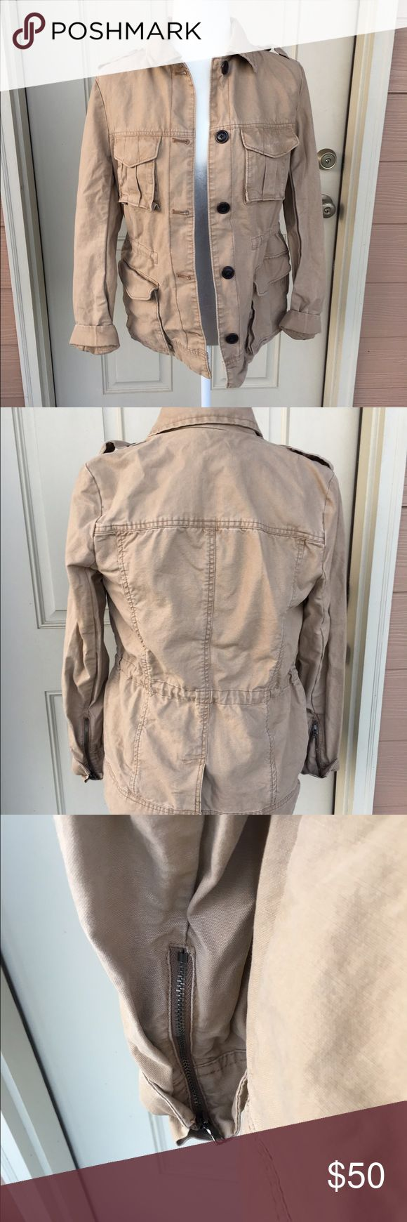 GAP Coat NWOT Really awesome GAP utility Coat! Never worn it was too small on me. Perfect condition! From a smoke-free home :) GAP Jackets & Coats Utility Jackets