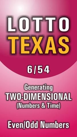 This app helps players to choose numbers with an algorithm, UNIQUE IN THE WORLD for Texas Lottery draws. Generating two-dimensional and Even...