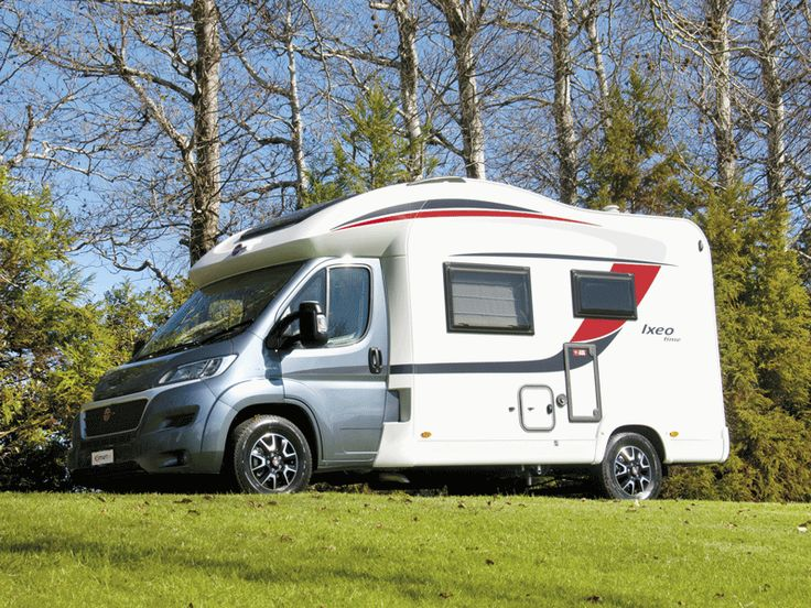 Bürstner has been building RVs in and around the small town of Kehl in southwest Germany for 58 years now. They build quality motorhomes with good layouts that are aesthetically pleasing to the eye.  The Ixeo Time IT590 is a great example of this design philosophy; a sweeping curve to the roofline, white body panels with their black and red decal highlights contrasting with a graphite coloured Fiat Ducato cab.  For more information check our website