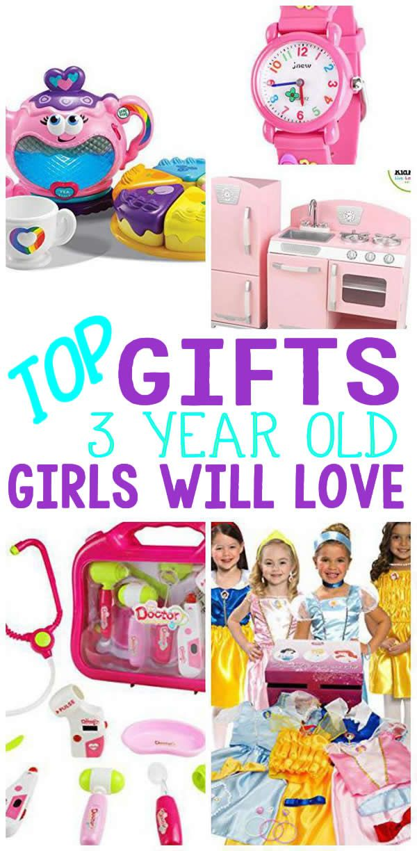 COOLEST gifts for 3 year old girls! Find the BEST girls will love! NO more guessing what to buy a girl.