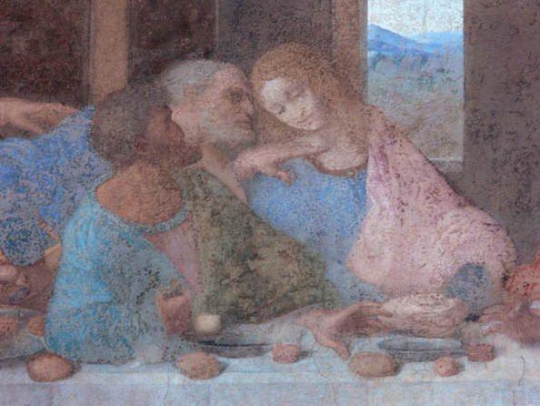Leonardo da Vinci. L'ultima cena, dettaglio, Santa Maria delle Grazie, Milano