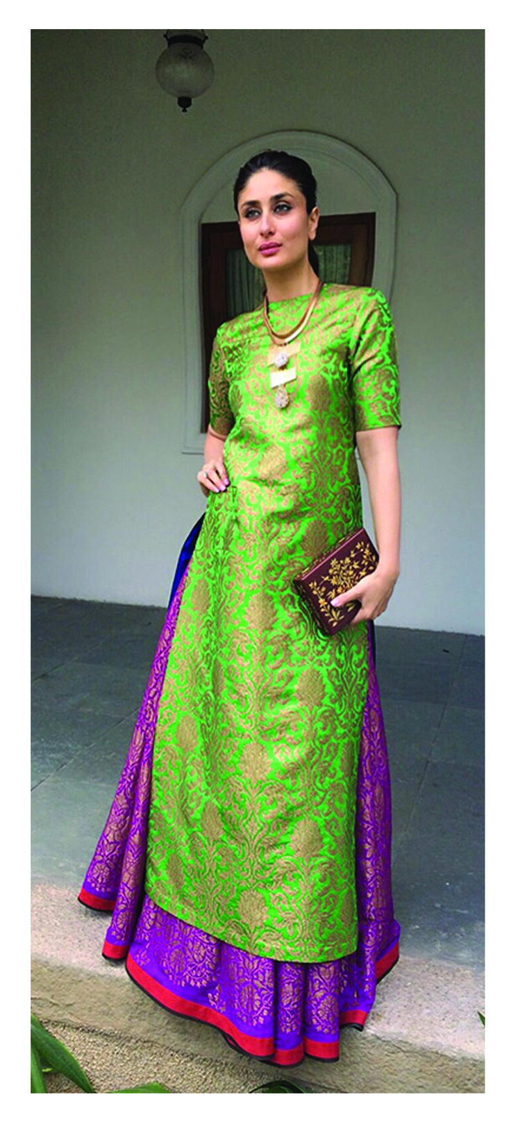 Kareena Kapoor Khan in payalkhandwala Brocade Kurta and Brocade Lehenga