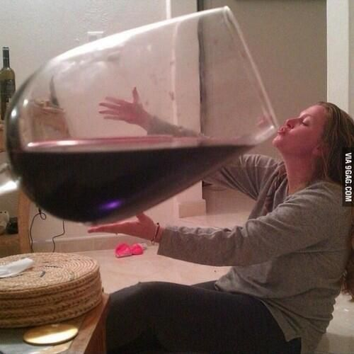 One glass of wine a day via Artfire on Twitter