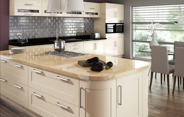 Buy Amalfi Cream Gloss Kitchen
