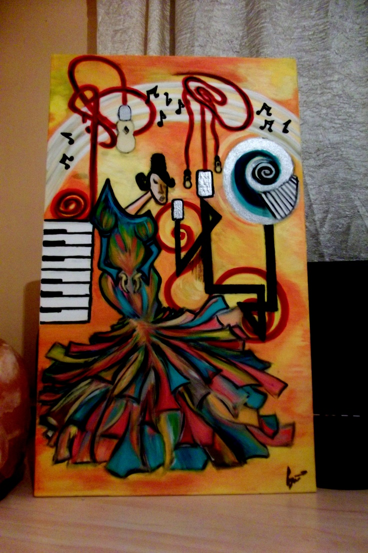 """Soprano""  Original handmade painting by Iulia Sirbu  Acrylics on canvas, 40x60cm, sold"