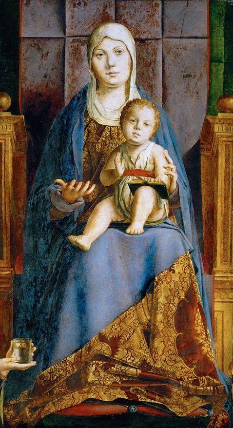 Embedded image permalink Antonello da Messina Pala di S.Cassiano dett. 1475 -76 Kunsthistoriches Museum Wien  @Biagio960  Buongiorno Biagio