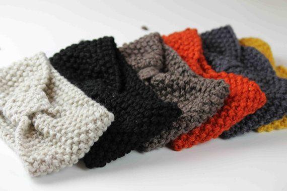 woman knitted headband head warmer  beige by eileenboutique, $9.99