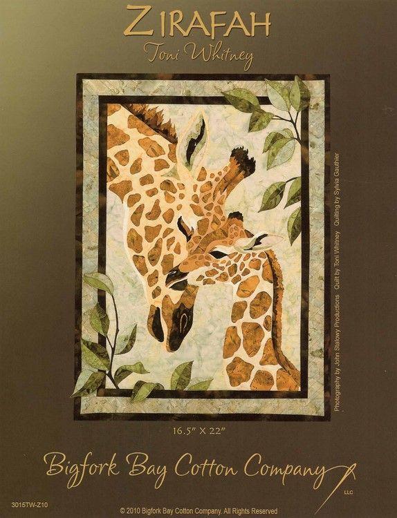 Zirafah Giraffe Applique Quilt Kit By Toni Whitney