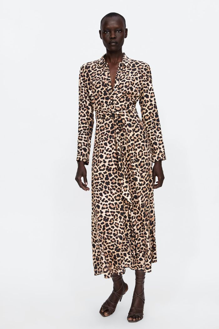 The Fall 2018 Trends Celebs Wore 25 Years Ago Leopard Print Maxi Dress Leopard Print Dress Leopard Dress