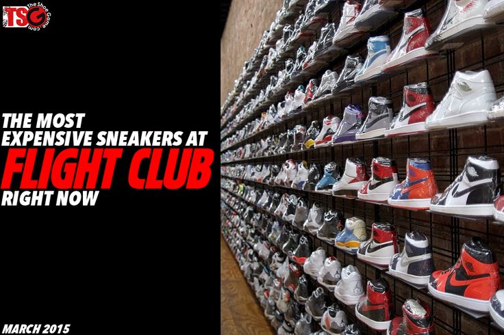 most expensive sneakers at flight club right now