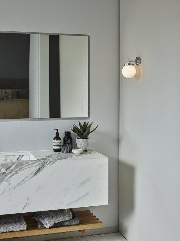 Mini Globe Wall Light Chrome Opal Glass by Original BTC @peterreidlighting #designerlighting #walllight
