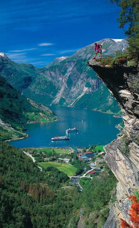 The village of Geiranger and Geirangerfjord in Stranda, Norway • photo: Per Eide