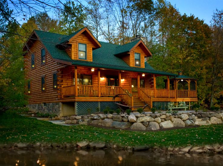 1000 ideas about log cabin modular homes on pinterest for Amish house builders