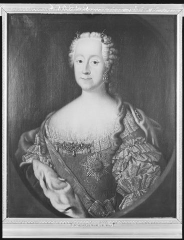 NOT Catherine II, Empress of Russia. Possibly her mother