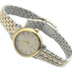 Mme or bracelet acier inoxydable Montre à quartz