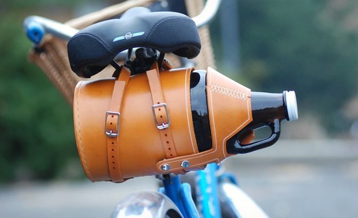 A Leather Growler Carrier For Your Bike