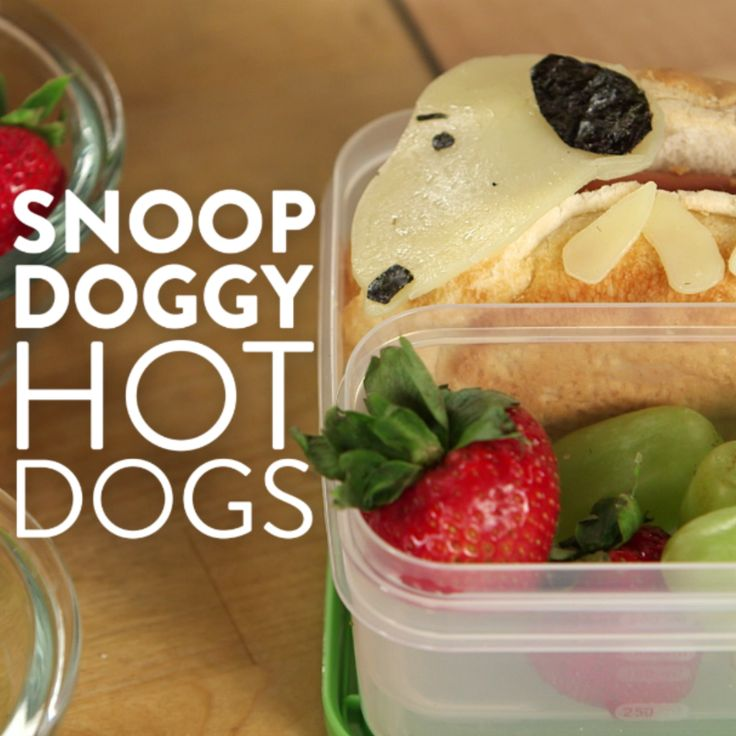 """To celebrate Charlie Brown and the Peanuts gang going 3D on the big screen, we're doing it the only way we know how: by making Snoopy hot dogs! You (or your kids) will go crazy for these sweet bento box lunches and, unlike Charlie Brown, won't say, """"Why can't I have a normal dog like everyone else?"""""""
