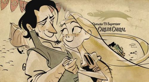 end credit art tangled - Google Search