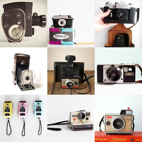 A selection of vintage camera for sale
