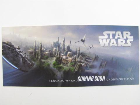 Walt Disney Imagineering Star Wars Land Mini Preview Gift Print