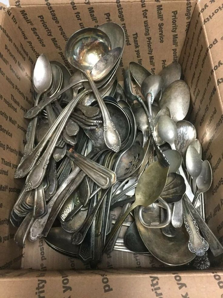 Details about 26 Pc Vintage Silver Plate Flatware Craft Grade Mixed Lotanyoldething257
