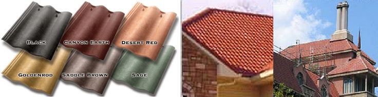 Synthetic Spanish Style Roof Tiles-Mimics the look of Spanish Clay Tiles! Class 4 Impact Resistant, Class-A Fire rating, Wind resistance up to 110 MPH. New or re-roofing on all types of roofs. Architectural grade roof tile-suitable for historical restoration, commercial properties, golf course properties. Nailed and applied just like regular roofing products. 50 Year Warranty. Walk on without damage. Cutting odd shapes simple with just a hand saw or Sawzall.