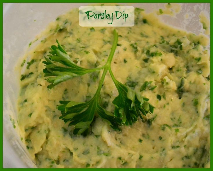 This is a really easy recipe for Parsley Dip. There is a dairy free version too.