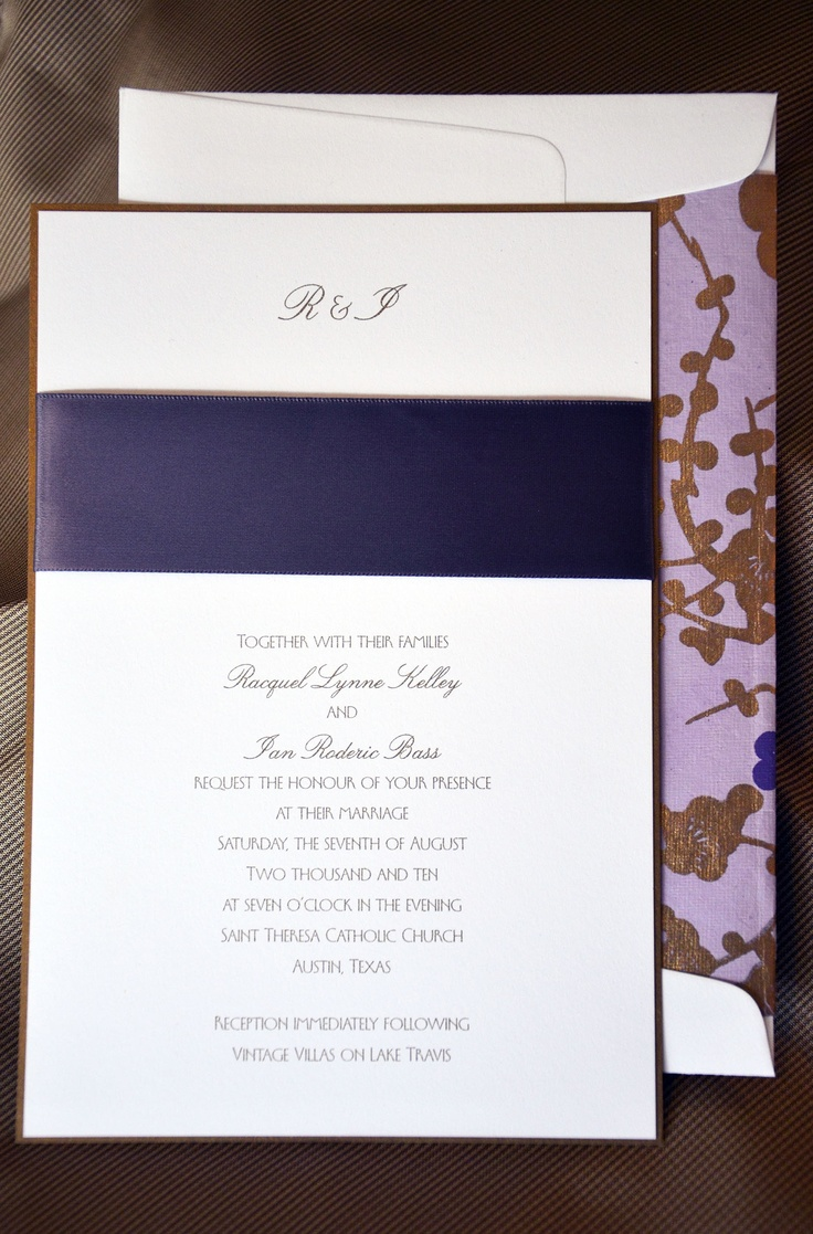This very contemporary wedding invitation to St