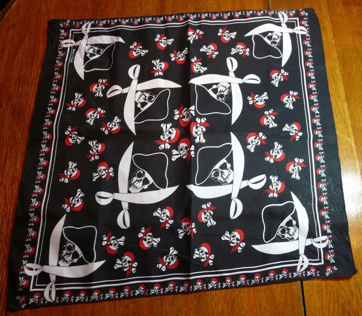 Pirate Bandana with Jolly Roger Skulls & Swords | Clothing, Shoes & Accessories, Unisex Clothing, Shoes & Accs, Unisex Accessories | eBay!