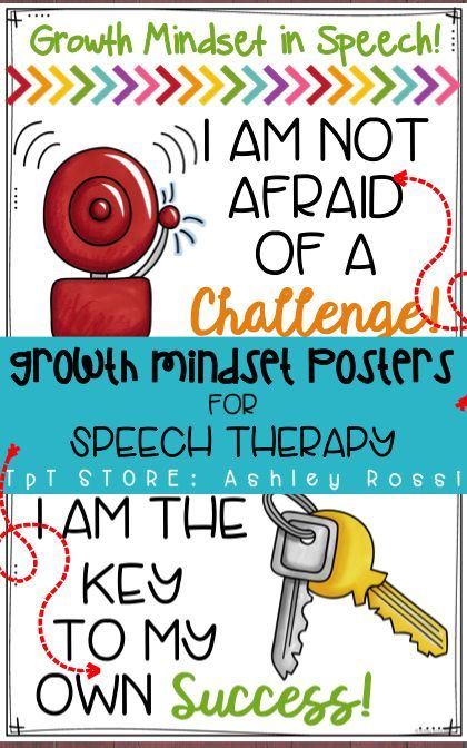 Growth Mindset Posters for Speech Therapy  I love these for room decor!