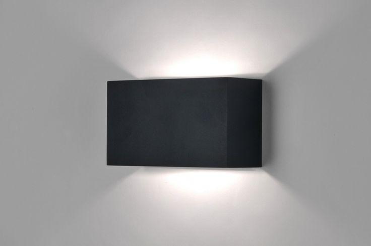 68 euro rietveld licht     Wandlamp 30623: Modern, Zwart, Mat, Aluminium