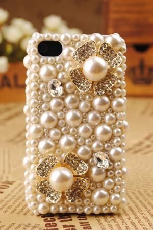 iPhone 4 3D Pearl Flower Shell Cover $54