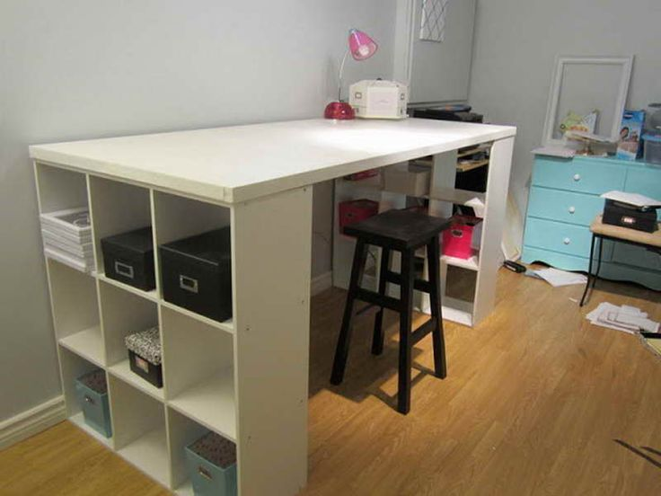 Craft Table With Storage Craft Rooms Pinterest