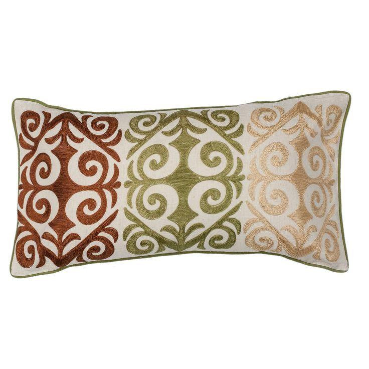 KAS Rugs Multicolor Damask Decorative Pillow - PILL17112X20