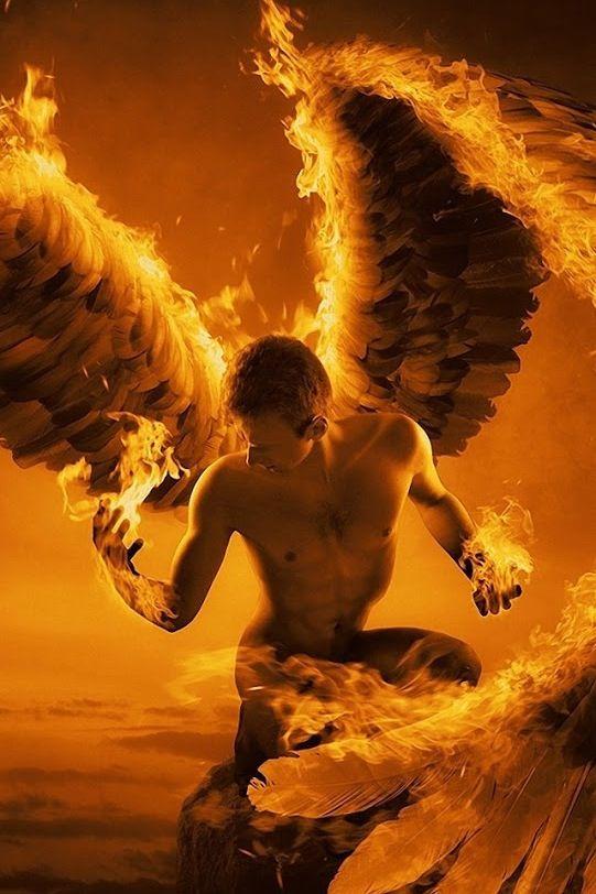 .Fire angel wings