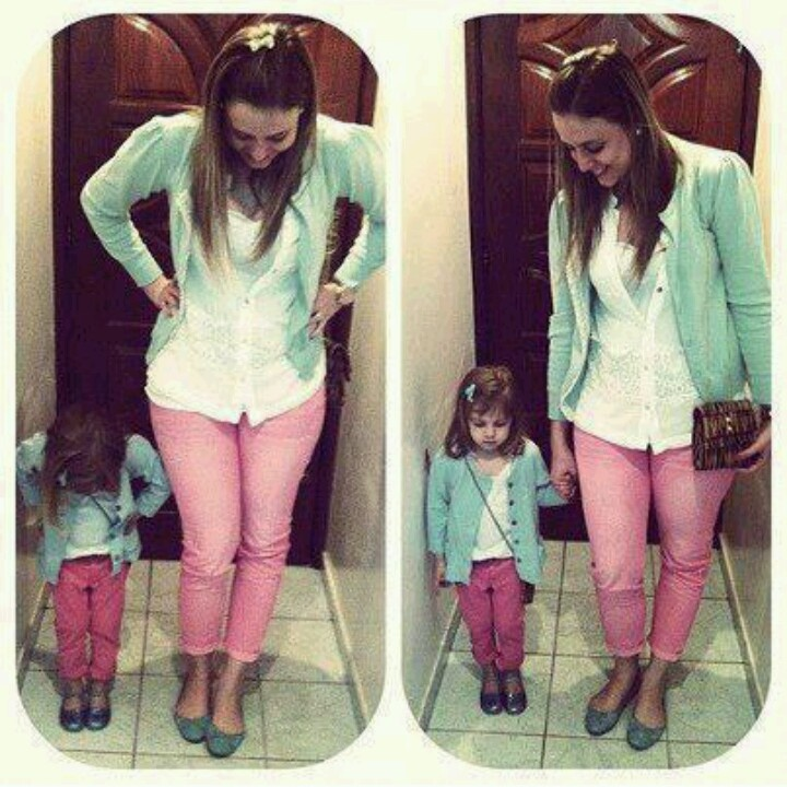 Mother daughter matching.