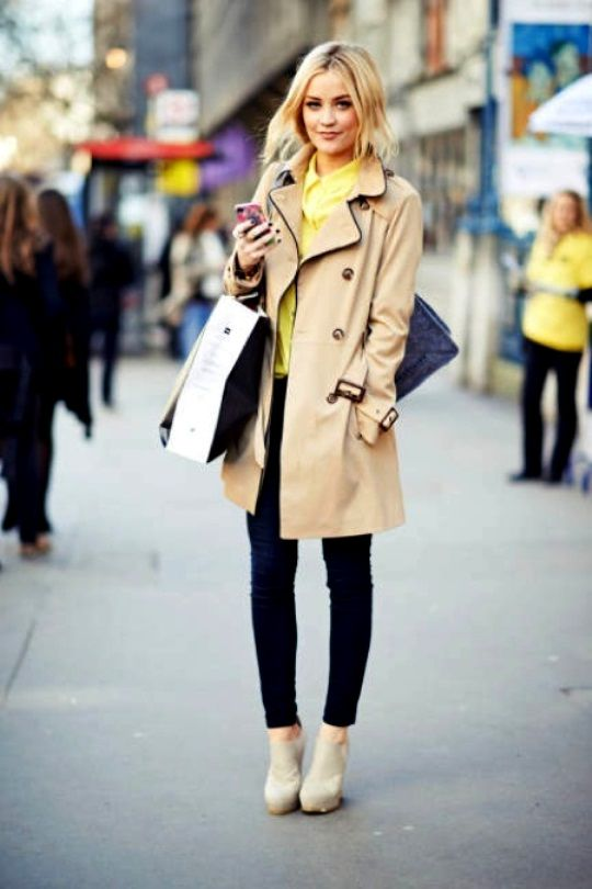 Dress style trench coat
