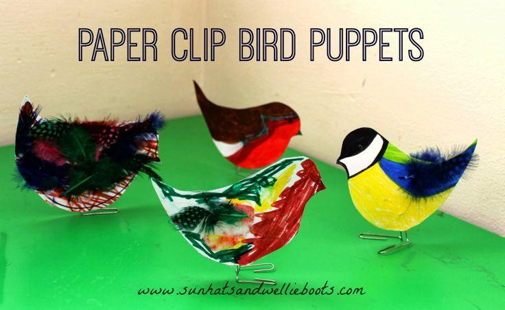 Sun Hats & Wellie Boots: Paper Clip Bird Puppets