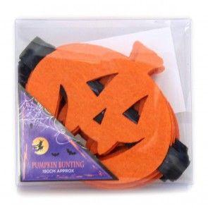 Hanging Felt Pumpkin Bunting Halloween Garland Banner Party Decoration Accessory